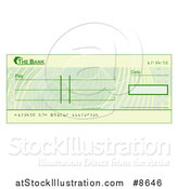 Vector Illustration of a Blank Bank Check by AtStockIllustration