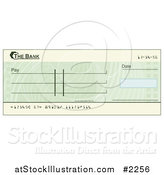 Vector Illustration of a Blank Green Blank Cheque by AtStockIllustration