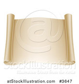 Vector Illustration of a Blank Open Scroll by AtStockIllustration