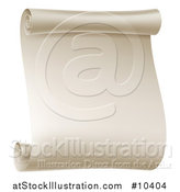 Vector Illustration of a Blank Scroll Notice Page by AtStockIllustration