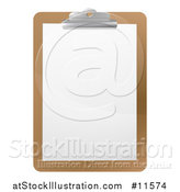 Vector Illustration of a Blank Sheet of Paper on a Clipboard by AtStockIllustration