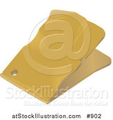 Vector Illustration of a Blank Yellow Sales Tag with Wrinkles and a Punch Hole by AtStockIllustration