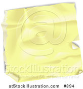 Vector Illustration of a Blank Yellow Wrinkled and Peeling Label Sticker by AtStockIllustration