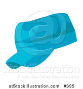 Vector Illustration of a Blue Baseball Hat by AtStockIllustration