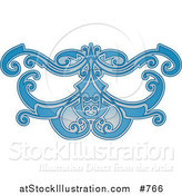 Vector Illustration of a Blue Eye Mask Pattern by AtStockIllustration
