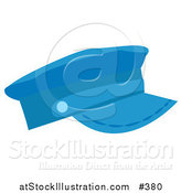Vector Illustration of a Blue Hat by AtStockIllustration