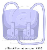 Vector Illustration of a Blue Purse with a Long Shoulder Strap by AtStockIllustration