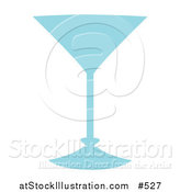 Vector Illustration of a Blue Wineglass by AtStockIllustration