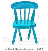 Vector Illustration of a Blue Wooden Chair by AtStockIllustration