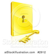 Vector Illustration of a Book with a Keyhole in the Center by AtStockIllustration