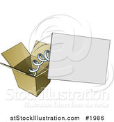 Vector Illustration of a Box with a Springy Sign by AtStockIllustration