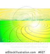 Vector Illustration of a Bright Light with Yellow and Green Ripples by AtStockIllustration