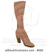 Vector Illustration of a Brown Boot by AtStockIllustration