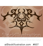 Vector Illustration of a Brown Tatoo Design by AtStockIllustration