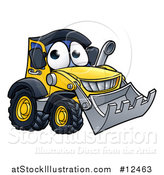 Vector Illustration of a Bulldozer Digger Mascot Character by AtStockIllustration
