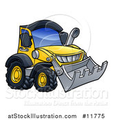 Vector Illustration of a Bulldozer Machine by AtStockIllustration