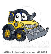 Vector Illustration of a Bulldozer Mascot Character by AtStockIllustration