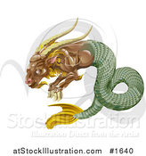 Vector Illustration of a Capricorn the Sea Goat with the Zodiac Symbol by AtStockIllustration