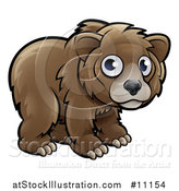 Vector Illustration of a Cartoon Bear Cub by AtStockIllustration