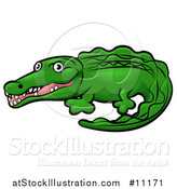 Vector Illustration of a Cartoon Crocodile by AtStockIllustration