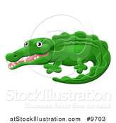 Vector Illustration of a Cartoon Cute African Safari Crocodile by AtStockIllustration