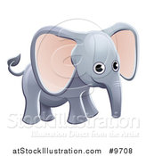 Vector Illustration of a Cartoon Cute African Safari Elephant by AtStockIllustration