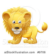 Vector Illustration of a Cartoon Cute African Safari Male Lion by AtStockIllustration