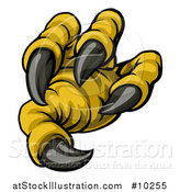 Vector Illustration of a Cartoon Eagle Claw and Sharp Talons by AtStockIllustration