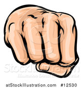 Vector Illustration of a Cartoon Fist Punching by AtStockIllustration
