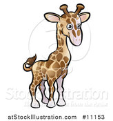 Vector Illustration of a Cartoon Giraffe by AtStockIllustration