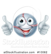 Vector Illustration of a Cartoon Happy Baseball Mascot Giving Two Thumbs up by AtStockIllustration