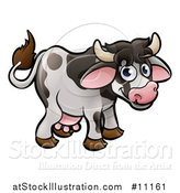 Vector Illustration of a Cartoon Happy Cow by AtStockIllustration