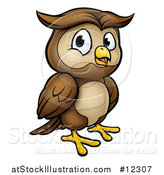Vector Illustration of a Cartoon Owl Mascot by AtStockIllustration