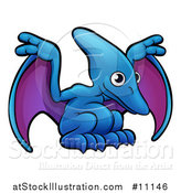 Vector Illustration of a Cartoon Pterodactyl Dino by AtStockIllustration