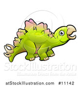 Vector Illustration of a Cartoon Stegosaurus Dino by AtStockIllustration