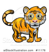Vector Illustration of a Cartoon Tiger by AtStockIllustration