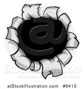 Vector Illustration of a Cartoon Torn Hole in a Metal Surface by AtStockIllustration