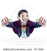 Vector Illustration of a Cartoon Vampire Reaching out with His Hands by AtStockIllustration