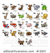 Vector Illustration of a Chart of Animals and Alphabet Letters by AtStockIllustration