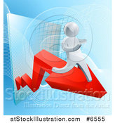 Vector Illustration of a Chart on Blue by AtStockIllustration