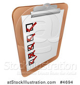 Vector Illustration of a Check List on a Clipboard by AtStockIllustration