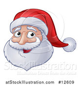 Vector Illustration of a Christmas Santa Claus Face by AtStockIllustration
