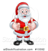 Vector Illustration of a Christmas Santa Claus Giving Two Thumbs up by AtStockIllustration