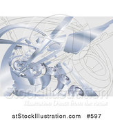 Vector Illustration of a Chrome Industrail Background by AtStockIllustration