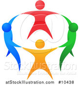 Vector Illustration of a Circle of Colorful People Holding Hands by AtStockIllustration