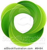 Vector Illustration of a Circle of Green Leaves by AtStockIllustration