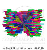 Vector Illustration of a Colorful Abstract 3d Blocks Design by AtStockIllustration