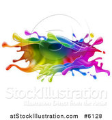 Vector Illustration of a Colorful Paint Splash by AtStockIllustration
