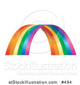 Vector Illustration of a Colorful Rainbow Arch by AtStockIllustration