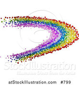 Vector Illustration of a Colorful Rainbow Made of Bubbles by AtStockIllustration